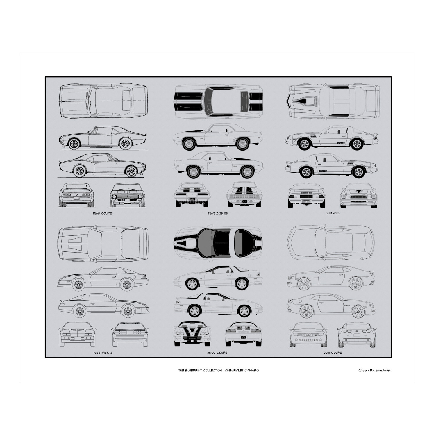 Chevrolet Camaro Blueprint Collection - Concept Products - Touch of ...