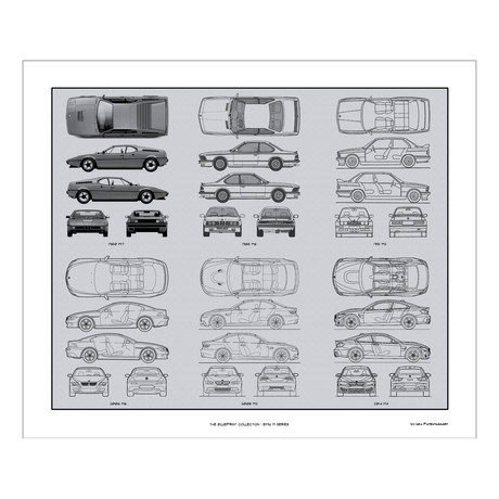 BMW M-serie Blueprint Collection