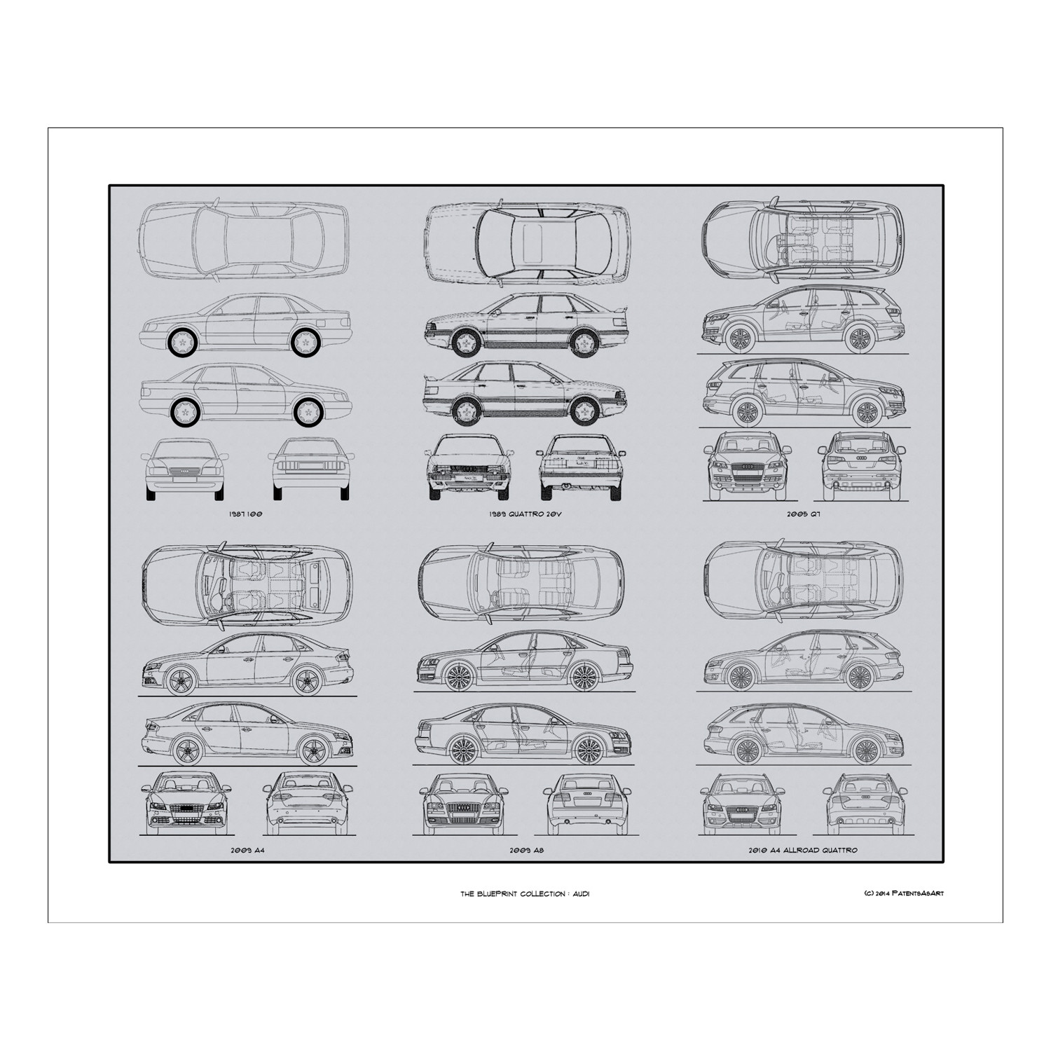 Audi blueprint collection concept products touch of modern audi blueprint collection malvernweather Image collections