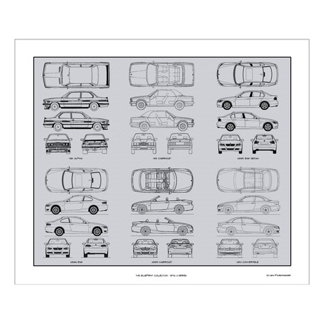 BMW 3-Serie Blueprint Collection