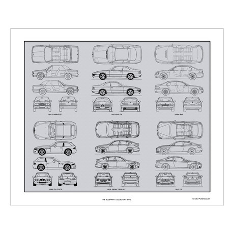 Bmw blueprint collection concept products touch of modern bmw blueprint collection malvernweather Choice Image