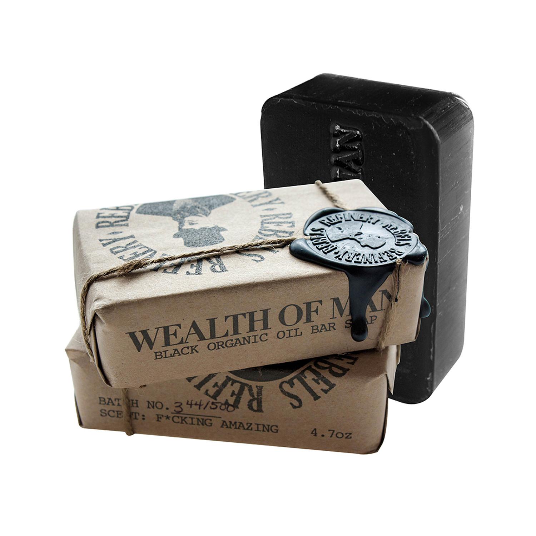 ef00d281f9fd 70cc9e7f2d1fb7b3b79f6e9c153280c7 medium · Wealth of Man Black Organic Oil Bar  Soap    Set of 3