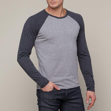 Baseball T-Shirt // Charcoal + Grey (S)