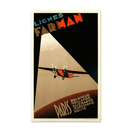 Farman Airlines // Hand-Pulled Lithograph