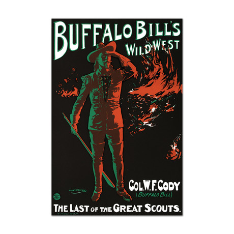 Buffalo Bills Wild West // Hand-Pulled Lithograph