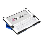 Touchfire // Ultimate iPad Case with Keyboard + Sound Booster // Blue (iPad 2, 3, 4)