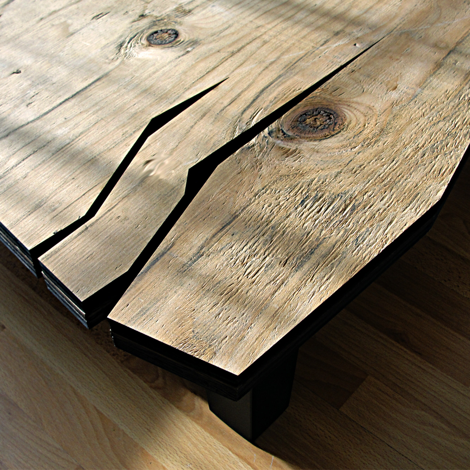 Distressed Natural Wood Coffee Table: AD Distressed Natural // Coffee Table