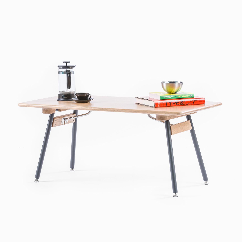 Brooks Coffee Table White Oak Snow White Legs