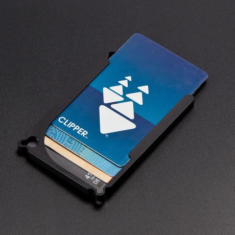 DM1: 4-Card Aluminum Wallet (Black Hard Anodized)