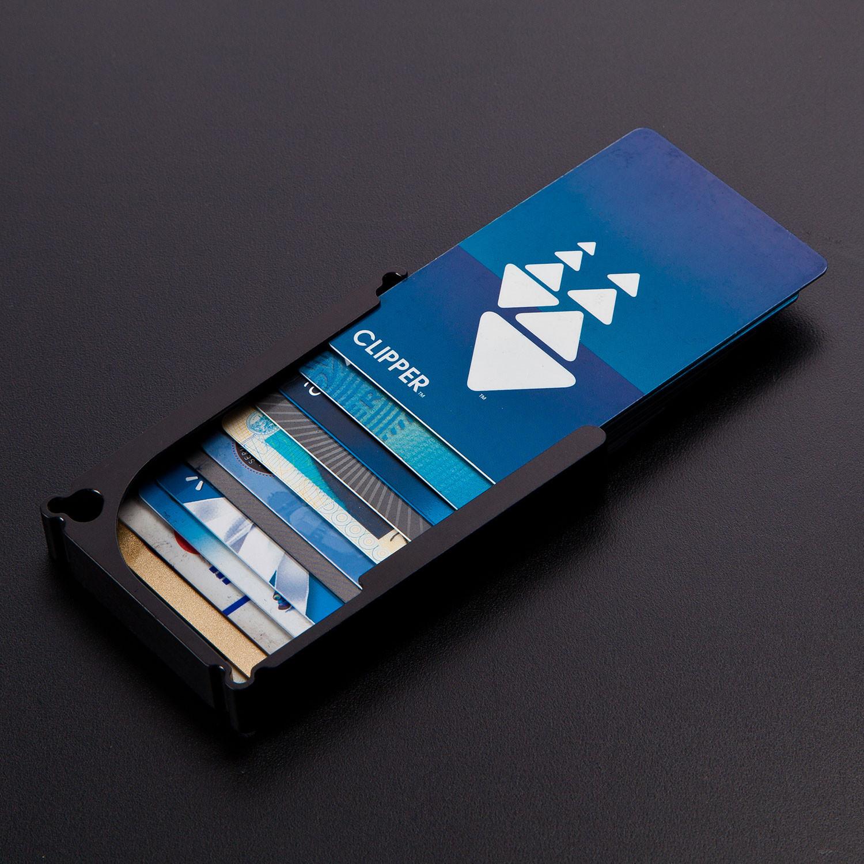 DM1: 12-Card Aluminum Wallet (Black Hard Anodized ...