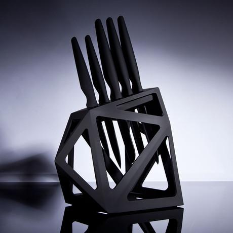 Ceramic Onyx // 5 Piece Set + Knife Block