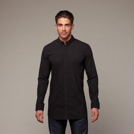 Noir Button Up // Jet Black