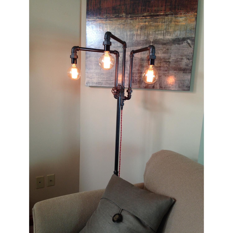 modern industrial floor lamp
