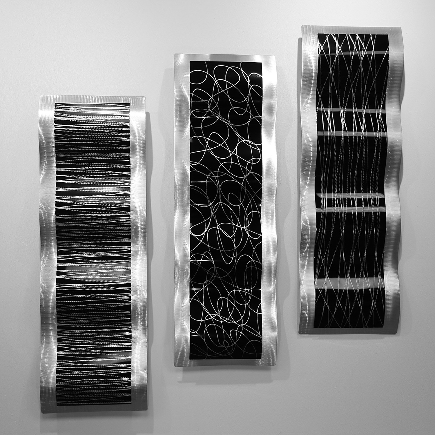 Chaotic wave set jon allen touch of modern for Modern silver home accessories