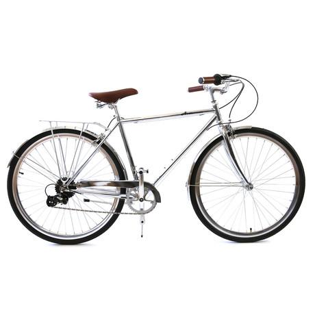 Atir Cycles // 8 Speed City Bike // Chrome (Small // 50 cm)