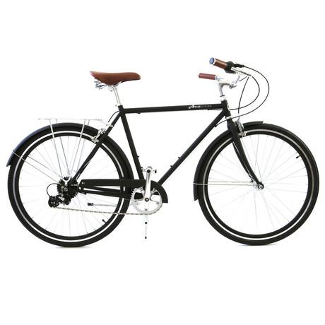 Atir Cycles // 8 Speed City Bike // Matte Black (Small // 50 cm)