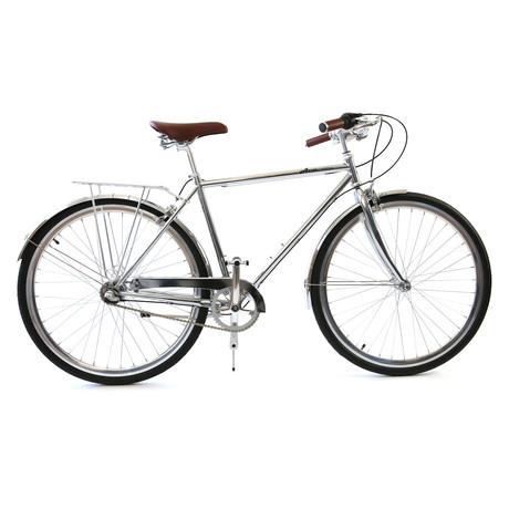 Atir Cycles // 3 Speed City Bike // Chrome (Small // 50 cm)