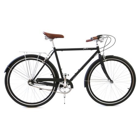 Atir Cycles // 3 Speed City Bike // Matte Black (Small // 50 cm)