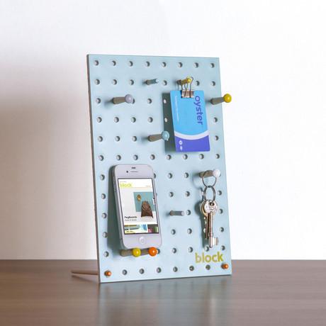 """Peg Board // Teal (Mini // 7.8""""L x 11.8""""W)"""