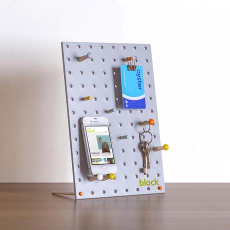 """Peg Board // Grey (Mini // 7.8""""L x 11.8""""W)"""