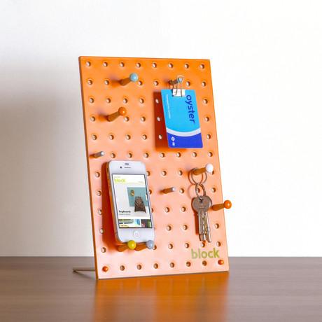 """Peg Board // Orange (Mini // 7.8""""L x 11.8""""W)"""