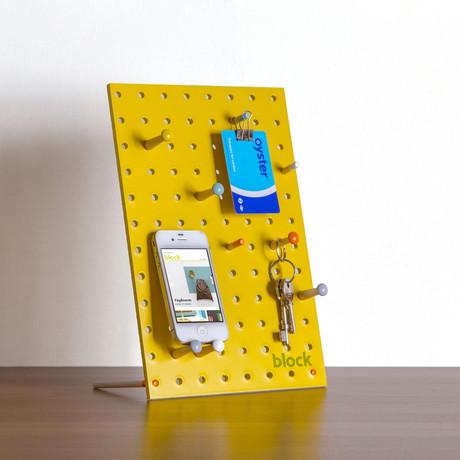 """Peg Board // Yellow (Mini // 7.8""""L x 11.8""""W)"""