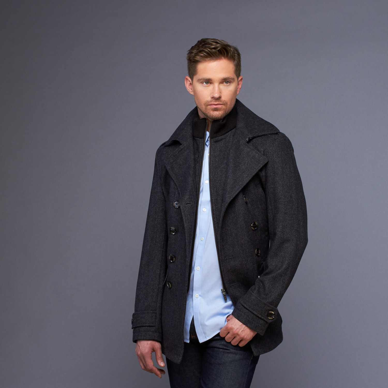 7 Diamonds // Glasgow Wool Coat // Charcoal (S) - 7 Diamonds ...