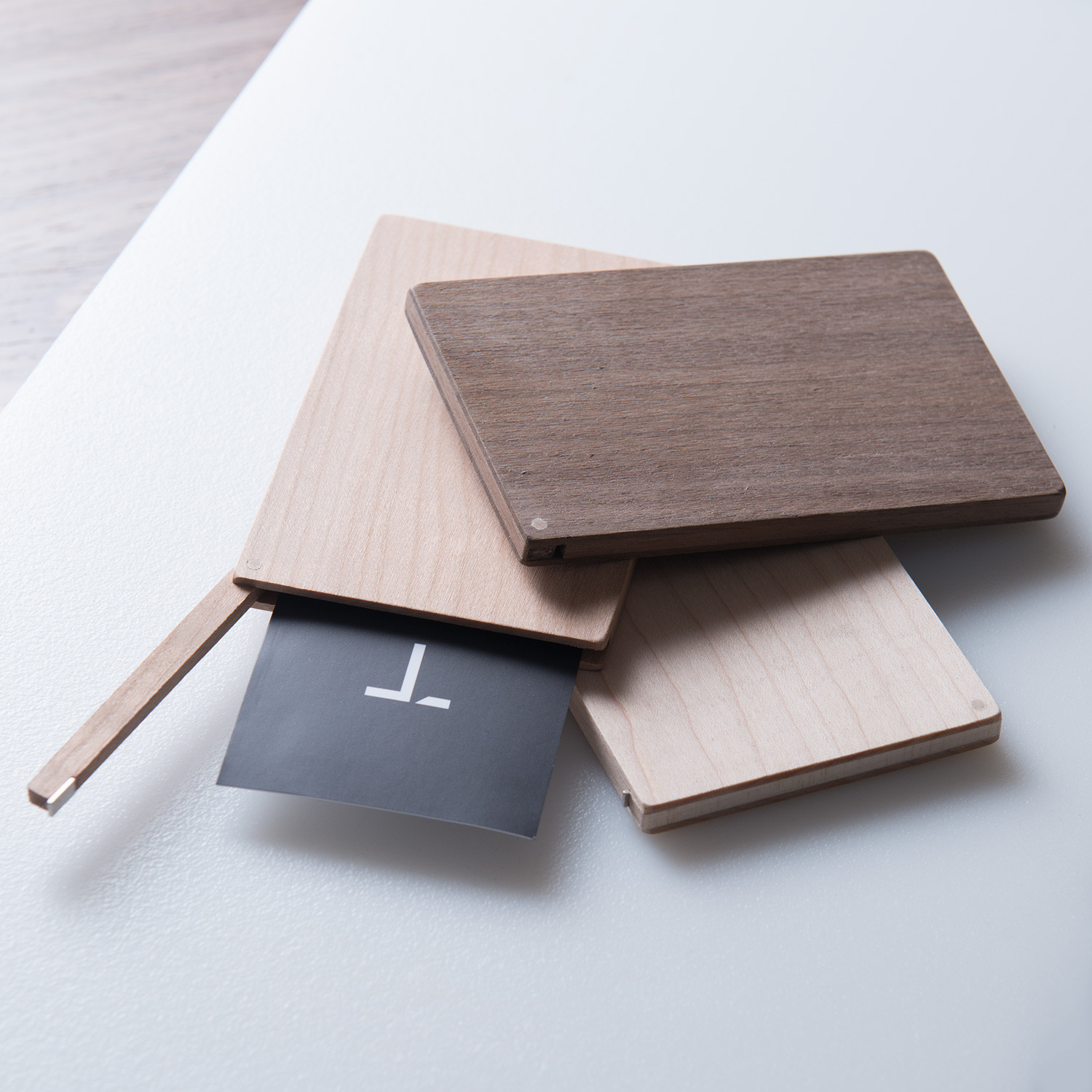 Business card holder flip walnut your nest inspired touch of business card holder flip walnut colourmoves