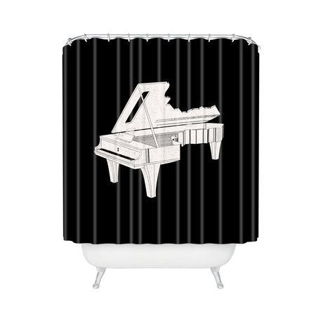 Music Is The Key 2 // Shower Curtain