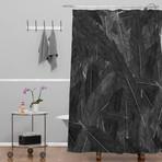 Feathered Dark // Shower Curtain