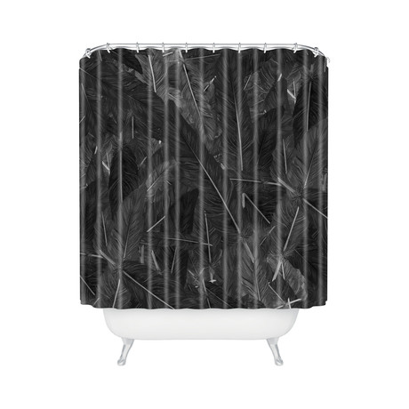 Feathered Dark // Shower Curtain