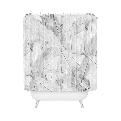Feathered Light // Shower Curtain