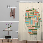 Socially Networked // Shower Curtain