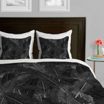 Feathered Dark // Duvet Cover (Twin)