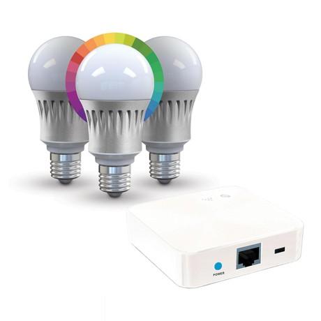 Luxxus NCL103 Bundle // 3 Bulbs + Gateway
