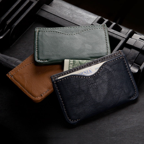 Slim Wallet (Emerald Green)