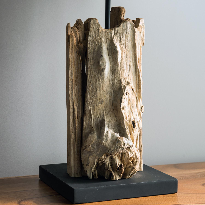 Driftwood Teak Table: Teak Driftwood Lamp