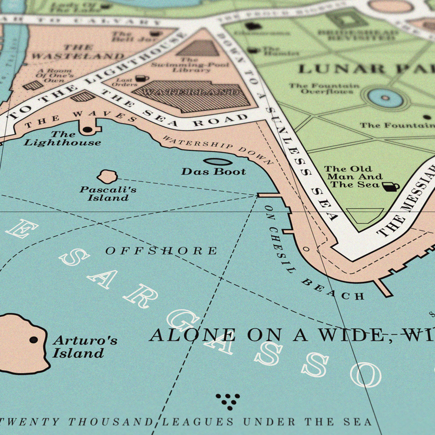 Book Map - Dorothy - Touch of Modern Catcher In The Rye Map on