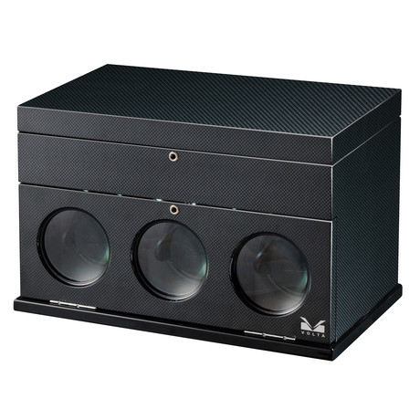 Triple Watch Winder + Storage (Rustic Brown)