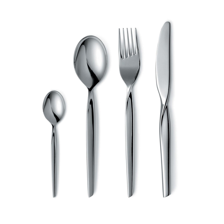 Twist 20 pieces mod flatware touch of modern - Twisted silverware ...