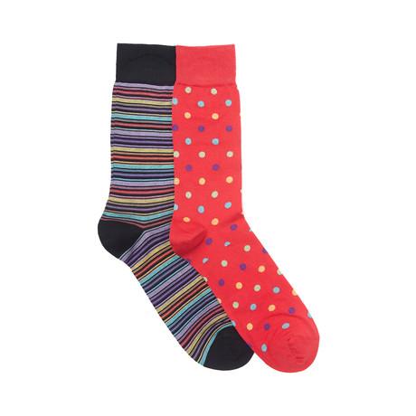 Washington Sock Set of 2 // Scarlet