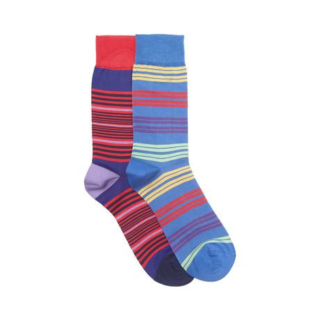 Baltimore Sock Set of 2 // Royal + Scarlet