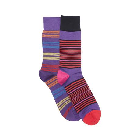 Baltimore Sock Set of 2 // Crocus + Black
