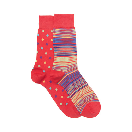 Washington Sock Set of 2 // Scarlet + Black