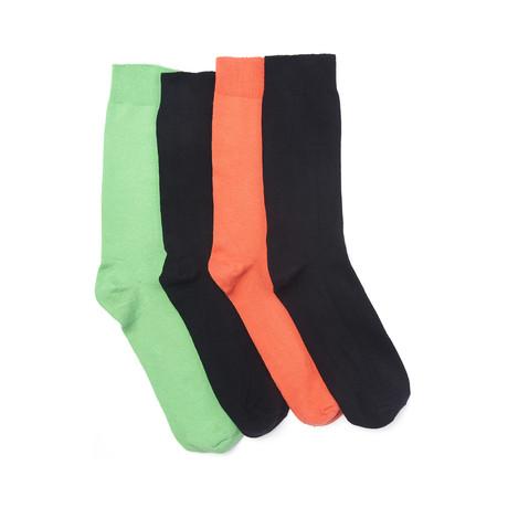 Odd or Not Sock Pack // Lime