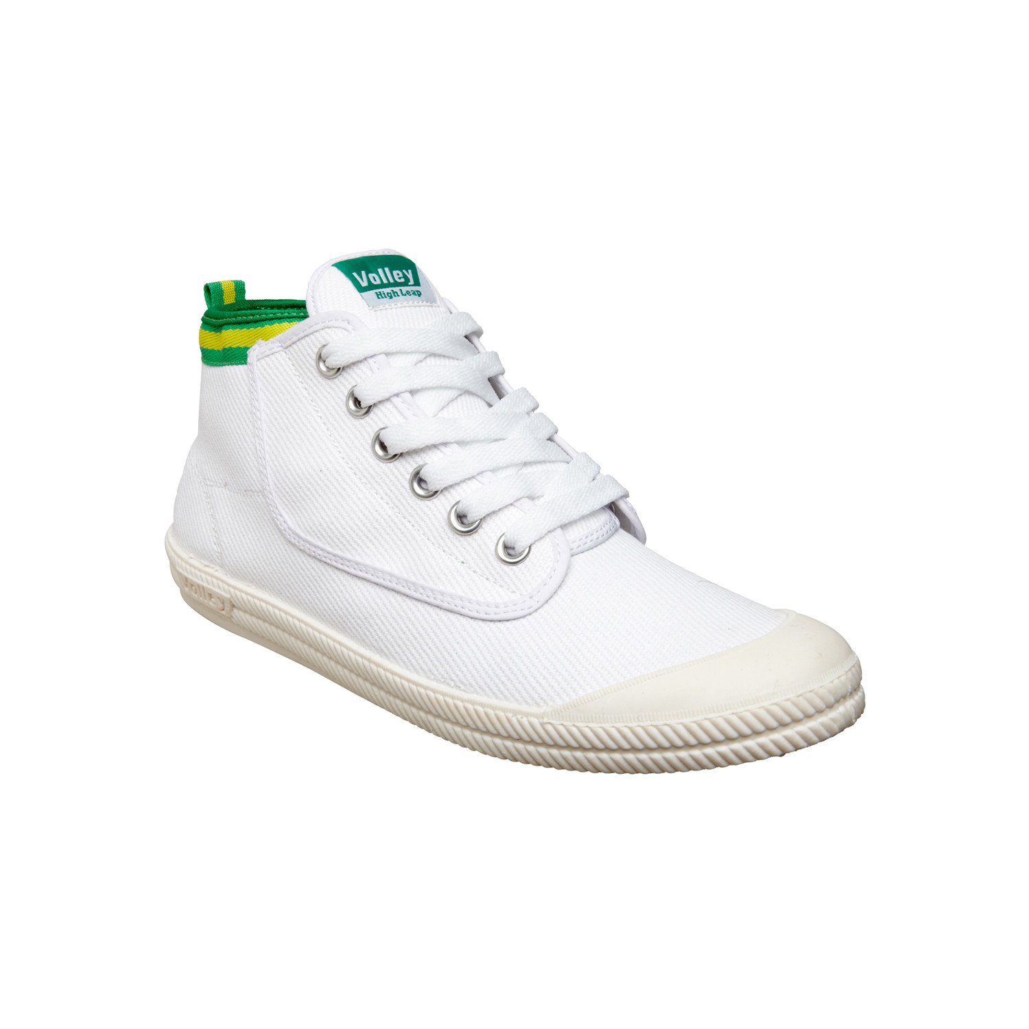 High Leap Canvas White + Green + Gold (US: 12) Volley