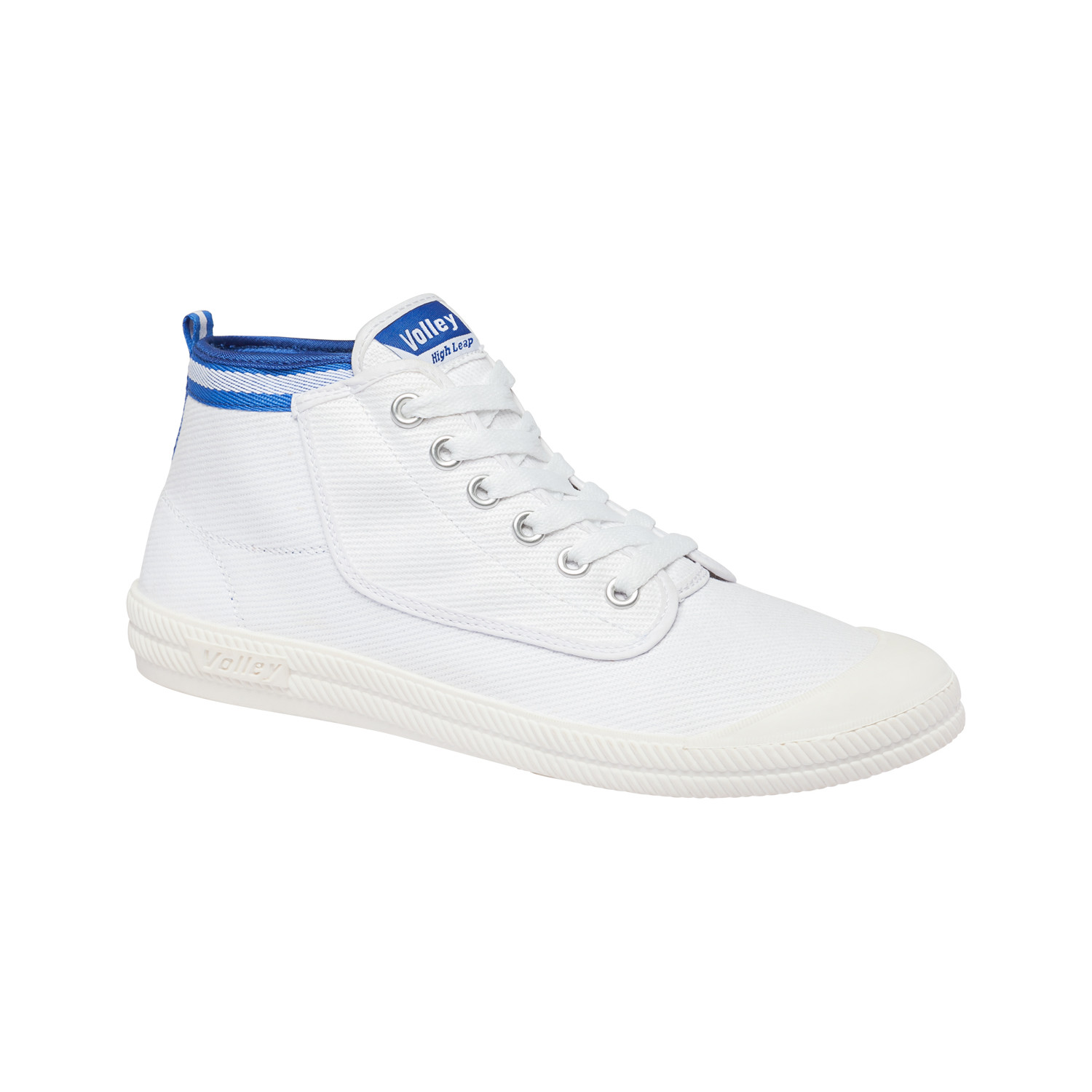High Leap Canvas White + Blue (US: 12) Volley Shoes
