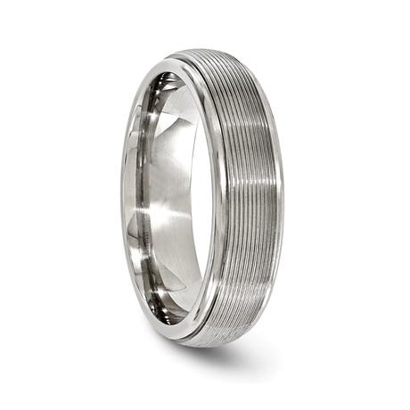 Grey Titanium Traction Band // 6mm