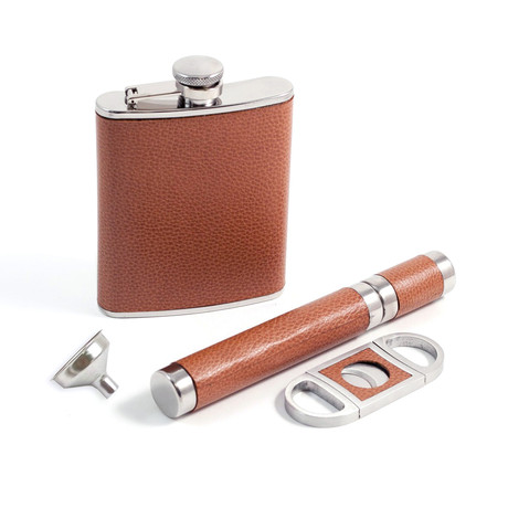Flask Set // Brown