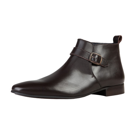 Dan Buckle Boot // Brown